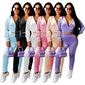 Womens designer tracksuit jacket leggings 2 piece set outfits outerwear tights sport suit long sleeve cardigan pants klw5050