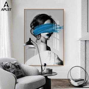 Sexy Girl Женщина Art Prints Домашнее украшение Nordic Обнаженные Обнаженные Женщины печати Картина на холсте стены искусства Картина для гостиной