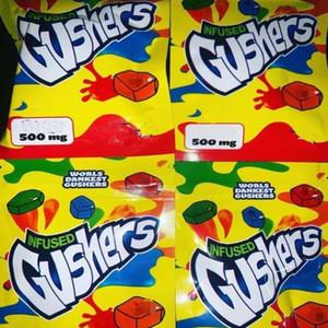 Ароматизаторы 2 пластиковых Тропической сумка Ready 500мг Заряженный Корабль Для Gusher Green Zipper Sour Фонтанирующие скважины sqczI luckyhat