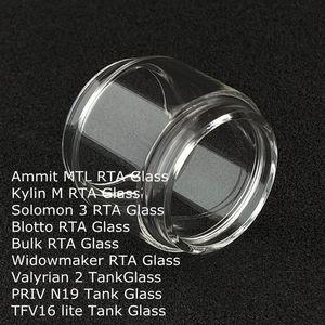 Fett verlängern Ersatzlampe Glasrohr für Ammit MTL Kylin M Solomon 3 Blotto Großwidowmaker RTA valyrischem 2 PRIV N19 TFV16 lite Behälter DHL