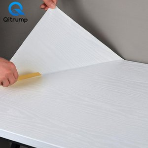 3D de madera del grano Decoración PVC Wallpaper engrosamiento impermeable etiquetas autoadhesivas de cocina Armario de escritorio mejoras para el hogar
