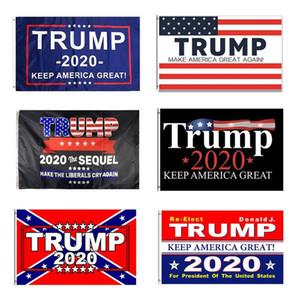 Trump 2020 Flag 90 * 150cm Keep America Grande élection présidentielle Bannière Drapeau Trump Polyester Bannière Sea Shipping DDA449