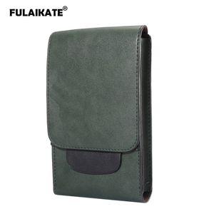 """FULAIKATE 6.3 """"MEGA GT-i9200 케이스 삼성 갤럭시 Note8 S8 S9 플러스 레트로 허리 파우치에 대한 크레이지 호스 남성의 보편적 인 가방"""
