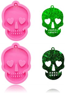 Halloween Ghost Head Skull Silicone Keychains Silicone Mold Keychain Molds Diy Molds Desserts Fondant Chocolate Gum Paste Pudding Decoratio