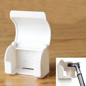 Titular de la máquina de afeitar de plástico extraíble Inicio de montaje en pared en rack auto adhesivo Estable