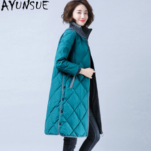 AYUNSUE Winter-Ente-unten Jacken-Frauen-langer Mantel Weibliche Jacke mit Kapuze Parkas Herbst Mäntel und Jacken Frauen Mujer Chaqueta 2020