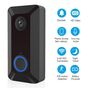 2.4GHz Smart Wifi IP Video Doorbell Infrared Night Vision Wireless Intercom Alarm Security Camera Visual Door Bell
