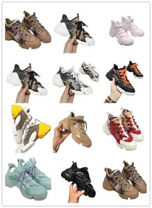Hot Women Thick-soled Casual Super-fire Trend Trifle Printed Women's Dad Shoes Increased Thick bottom solid color stretch cloth Sneakers