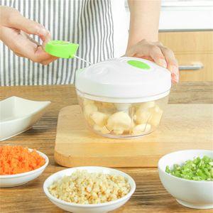 Ail Manuel Slicer aliments pour bébés légumes Viande Chopper multifonctions Fruits hachoir à légumes rapide main Ail épicé Destructeurs Trancheuses