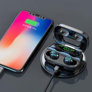 Новые Black S11 TWS 5,0 Bluetooth наушники Fingerprint Сенсорный 9D гарнитура Обратный зарядки беспроводной зарядки