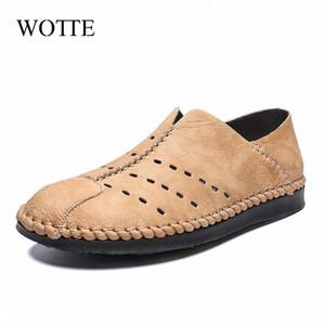 Wotte Printemps Eté Hollow Men Mocassins Microfibre Flats Chaussures Casual Antiderapant respirante Chaussures Driving Man Deportivas Hombe Scholl Sho 3q8S #