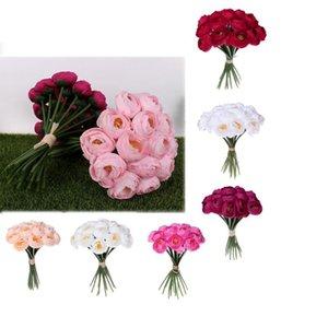Свадебный букет Crystal Rose Pearl невесты Невеста проведения искусственного шелка цветок украшения дома Таблица Декоры Многоцветный