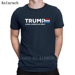A Real American Trump Hero T Gift S-3xl Printed Mens Streetwear Shirt Outfit Fitness Clothing New Arrival Spring 2019