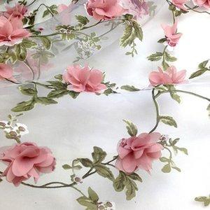 Metre Pembe Şifon Çiçek Aplike Dantel Malzeme İçin Dr Düğün Kumaş Organza tarafından