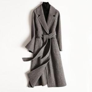 2020 Wool Coat Female Double-sided Korean Woolen Jacket Long Coat Spring Autumn Overcoat Ladies Coats Abrigo Mujer XR1810 KJ4040