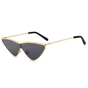 New gradiente Óculos de sol fashion triângulo gato olho óculos de sol mulheres