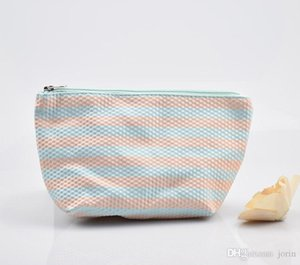 Small fresh stripe dumpling cosmetic bag large capacity waterproof portable storage bag ladies carry-on bag