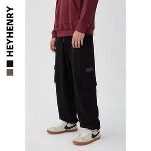 Heyhenry Kordelzug Multi-Taschen Tooling-beiläufige Hosen Männer und Frauen Ins Fashion Wide Leg-Anhänger Paare Beliebte Marken