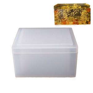 Plaza 1pcs la caja del tejido de silicona molde de resina epoxi de molde Necesidades Arte decorativo para DIY diarios de papel Tejidos de coches para hacer cubierto MX200810