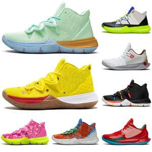 Sıcak Satış Kyrie IrvingAll Star Oreo eğitmenler spor ayakkabısı sünger boyutu 7-12 mens açık spongebob S2 5 jumpman erkekler basketbol ayakkabıları