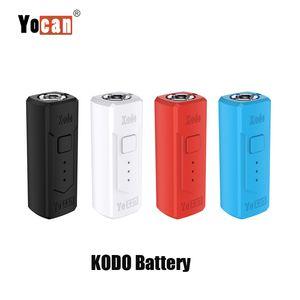 100% original Yocan Kodo caja Mod 400mAh Precalentar VV E cigarrillos Vape Mod variable voltaje de la batería de 510 cartuchos de rosca del tanque
