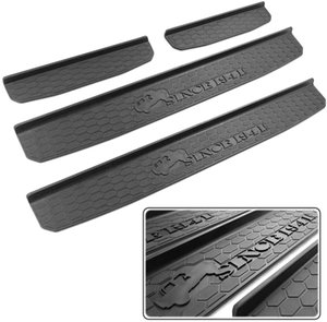 Door Sill Guards for 2018-2019 Jeep Wrangler JL and 2020 Jeep Gladiator JT Accessories Entry Plate Cover with Since 1941 Logo Black