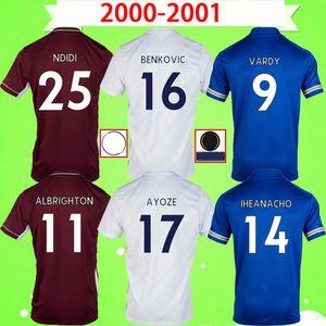 2020 2021 Leicester City maillot de football à domicile troisième bleu blanc rouge AYOZE GREY 20 21 maillot de football VARDY camiseta NDIDI uniforme adulte hommes + enfants kit