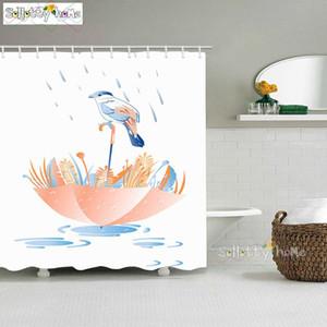 인쇄 커튼 폴리 에스테르 우산 목욕 방수 샤워 세척 천 만화 새 커튼 욕실에 3D 동물 vCgHs