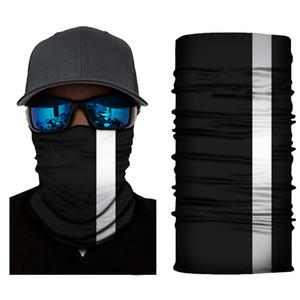 Светоотражающих нашивки Твердой Бандана шея оголовье Велоспорт Рыбалка шарф Бандан мужчины женщины Headwear Многофункциональное Бесшовная маска для лица FWE627