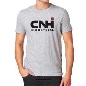Мужского CNH Industrial Gray Ih International Harvester New Holland Трактор Комбайн Сельхозтехника Сельхозтехника Машина тенниска