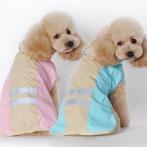 Küçük Kaniş Bichon yağmurluk için Pet Köpek Yağmurluk Yansıtıcı Su geçirmez Köpek Kapüşonlular Ceketler Köpek Windproof Yağmur Coat