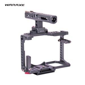 Caméra GH5 Kit Cage Hache de guerre vidéo Poignée Grip pour Panasonic GH5 GH4 appareil photo reflex numérique, intégré Quick Release Convient Arca Swiss