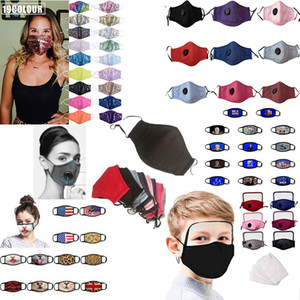 Mascarilla reutilizable Máscara Filtración Breath válvula máscaras de protección para polvo partículas de la contaminación del polvo anti PM2.5 Haze pullution INSTOCK