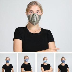 ventilini Nefes Ağız Maskeleri Anti Toz Yıkanabilir Yeniden kullanılabilir Yüz maskesi kapak Tasarımcı maske DHB250 ile 5Color Çiçek Baskı Maske