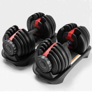 UPS الشحن الوزن قابل للتعديل الدمبل 2.5-24kg اللياقة تجريب الدمبل لهجة قوتك وبناء عضلاتك الدمبل