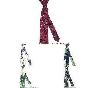 ins all-match plant women's tie women's shirt Internet celebrity flower Shirt printed casual tie IAI1v