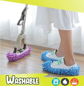 1Pc Fashion Convenient Dust Mop Slipper House Cleaner Lazy Floor Dusting Foot Cleaning Supplies Shoe Cover