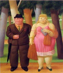 Fernando Botero Arte do casal Home Decor Artesanato / HD impressão pintura a óleo sobre tela Wall Art Imagem 7072