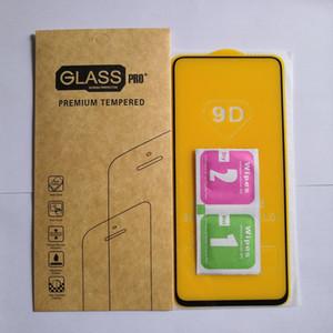 10PCS 9D الغراء الكامل حامي الشاشة الزجاج لسامسونج غالاكسي M51 / M31 / M21 / M11 / M01 / A01 الشحن المجاني