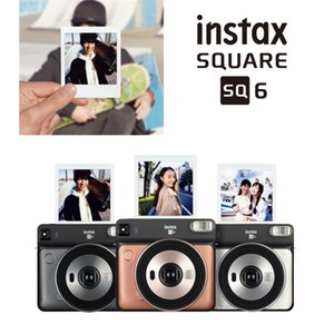 Instax QUADRADO SQ6 instantâneo Film Photo Camera Blush ouro Graphite Grey Pearl White para Polaroid Instant Photo Camera Film