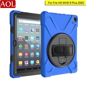 360 회전 가능한 어린이 헤비 듀티 하이브리드 케이스를 들어 아마존 킨들 파이어 (Kindle Fire) HD 핸드 숄더 스트랩 충격 방지 커버와 8 / HD8 플러스 2020