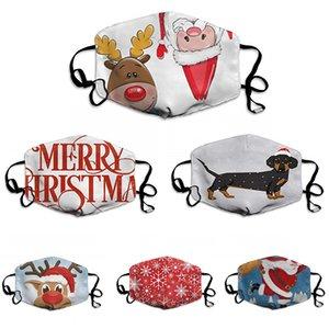 Schablonen-Partei-Weihnachtsgesichtsmaske Baumwolle Waschbar Wiederverwendbare Anti-Staub-Masken Halloween Schutzgesichtsmaske Freies Verschiffen