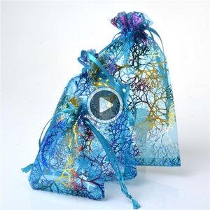 3Size Koralline Stil Organza Schmuck Tasch Hochzeitsfestbevorzugung Geschenk ag Justin
