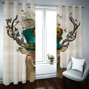 European Luxury 3D Curtains Blackout HD beach scenery Curtains For Living Room Printing Blackout Curtain Drapes