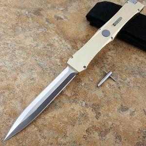 Mi Nemesis (or 24k) Alliage en aluminium de zinc + 24k Couteau de survie pliante de la chasse à la chasse à la chasse de Xmas pour hommes D2