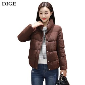 New Autumn Winter Light Down Jackets Women Solid Long Sleeve Warm Coats Chic Parkas High-Quality Fitness Down Jackets Female