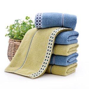 격자 패턴 타올면 압축 사각형 홈 수건 손 얼굴 헤어 목욕 디자이너 수건 높은 품질