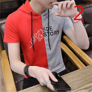 Men's youth large size lapel short-sleeved T-shirt wild handsome tide t 0924