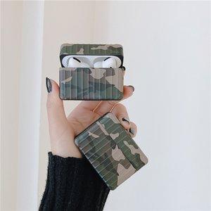 Per Airpods Casi 3D creativo camuffamento della valigia di caso per 1/2 Airpods caso auricolare Cover per Apple Airpods pro caso