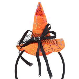 Halloween Pumpkin Headband Orange Witch Cosplay Headdress Halloween Party Props Hair Accessories Hat